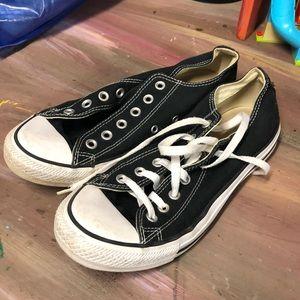 Converse Black shoes- 1 without shoe lace